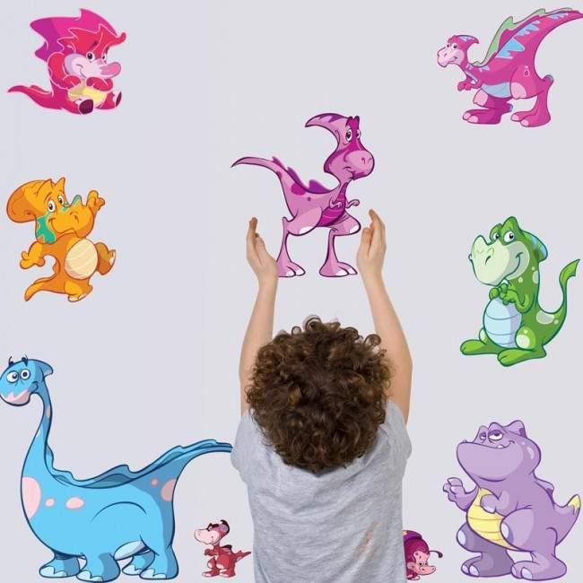 Γεμίσαμε δεινόσαυρους!, μικρή συλλογή αυτοκόλλητα τοίχου