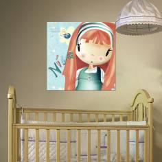 So Cute!, με όνομα, παιδικός - βρεφικός πίνακας σε καμβά