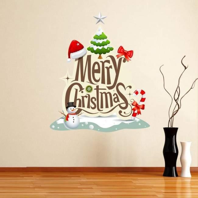 Cristmas Tree, αυτοκόλλητο τοίχου, πόρτας , βιτρίνας,διακοσμητικά