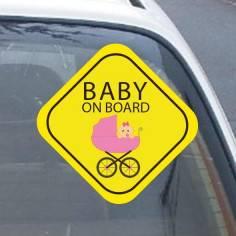 Αυτοκόλλητο αυτοκινήτου παιδικό, My girl on board!