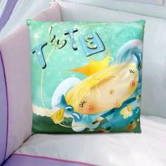 So happy, 100 % βαμβακερό διακοσμητικό μαξιλάρι, με το όνομα που θέλετε!