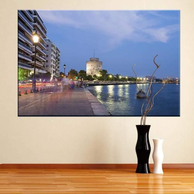 Λευκός πύργος , Θεσσαλονίκη , πίνακας σε καμβα