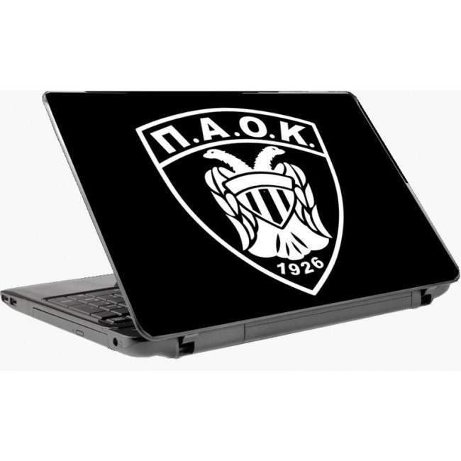 ΠΑΟΚ , μαύρο φόντο , αυτοκόλλητο Laptop