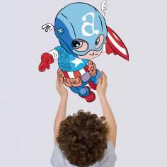Baby captain america, αυτοκόλλητο τοίχου