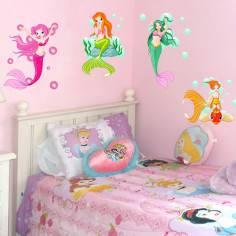 Γοργόνες! ,αυτοκόλλητα τοίχου με πολλές γοργόνες