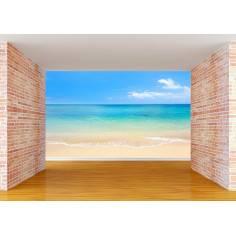 Sand, sea , sky , φωτογραφική ταπετσαρία αυτοκόλλητη