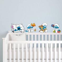Στρουμφάκια μωρά σετ 4 σχέδια,αυτοκόλλητα τοίχου