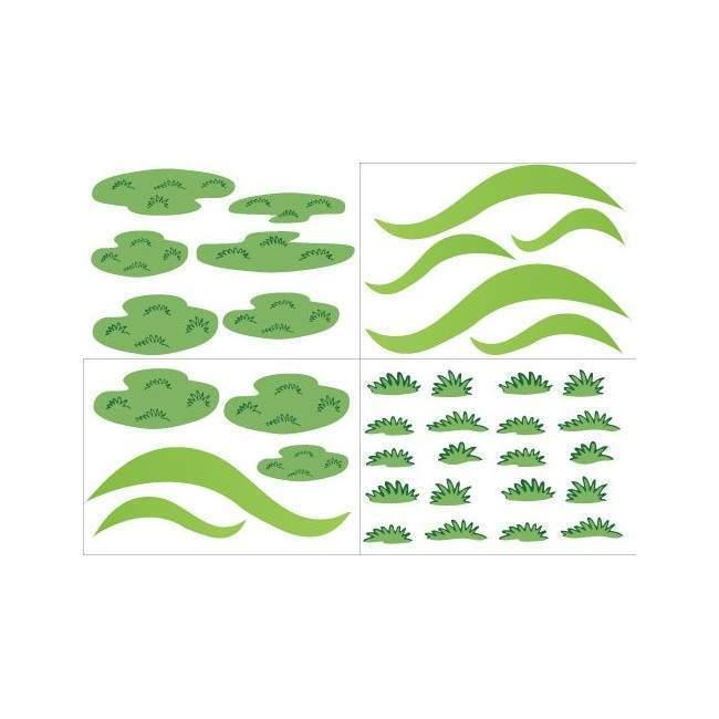 Λοφάκια , πράσινα νησάκια και χορτάρι