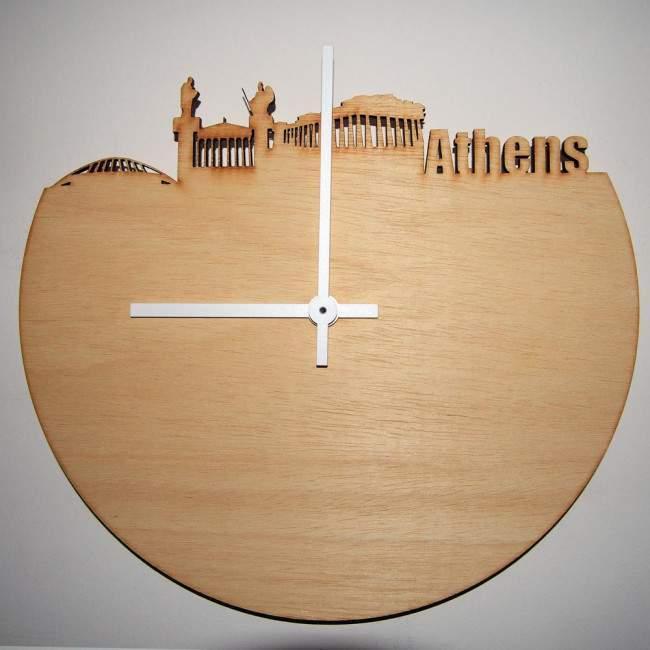 Athens skyline , ρολόι τοίχου