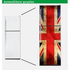 Αγγλική σημαία vintage, αυτοκόλλητο ψυγείου