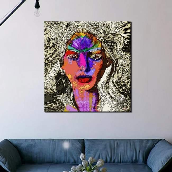 Colors storm, πίνακας σε καμβά του Ισαάκ Τσορακίδη