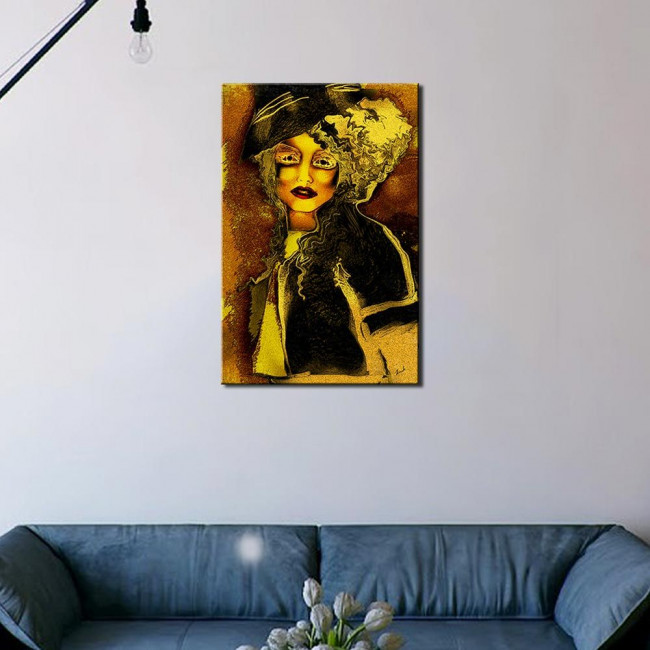 Autumn lady, πίνακας σε καμβά του Ισαάκ Τσορακίδη