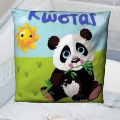 Ζωάκι της επιλογής σας, 100 % βαμβακερό διακοσμητικό μαξιλάρι, με το όνομα που θέλετε!