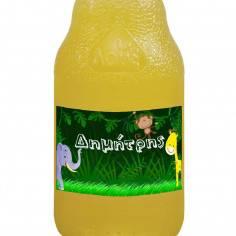 Ζωάκια της ζούγκλας ,αυτοκόλλητες ετικέτες για μπουκάλια αναψυκτικών ,νερού, με το όνομα που θέλετε