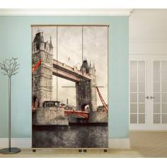 Tower bridge Vintage,αυτοκόλλητο ντουλάπας