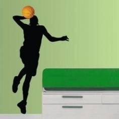 Αυτοκόλλητο τοίχου, Μπασκετμπολίστας 2