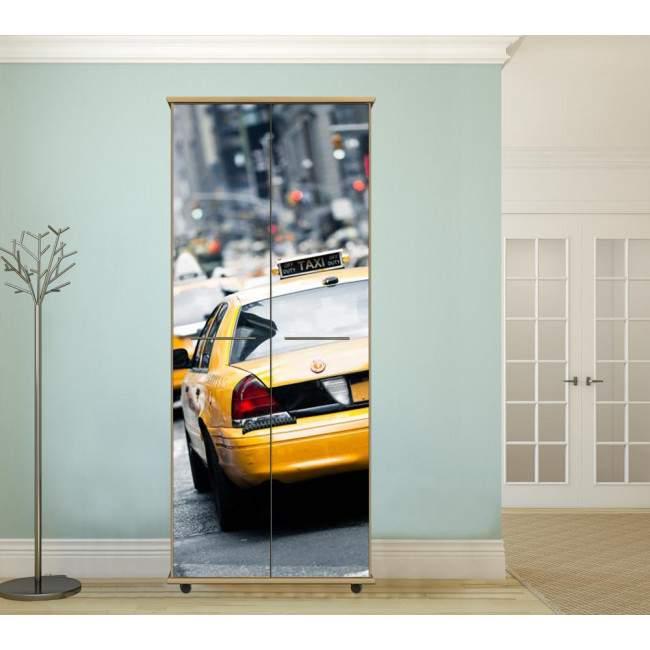 NY yellow cab,αυτοκόλλητο ντουλάπας