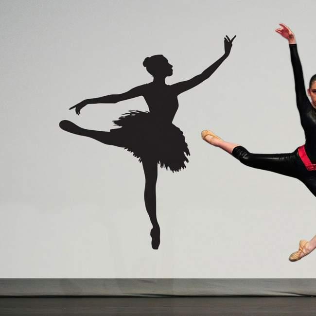 Φιγούρα μπαλέτου art4, Αυτοκόλλητο τοίχου