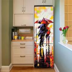Under the rain, αυτοκόλλητο - ταπετσαρία ψυγείου