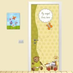 Πάμε βόλτα, αυτοκόλλητο πόρτας παιδικό