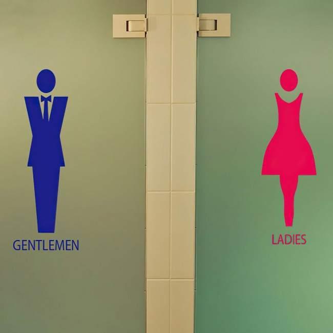 Ανδρικές , γυναικείες ,αυτοκόλλητα για σήμανση