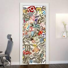 Typography I,αυτοκόλλητο πόρτας