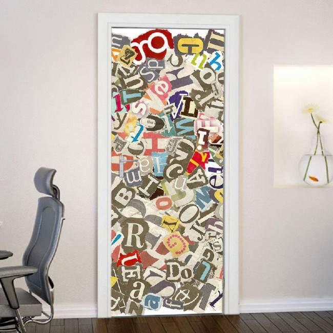 Typography 1,αυτοκόλλητο πόρτας