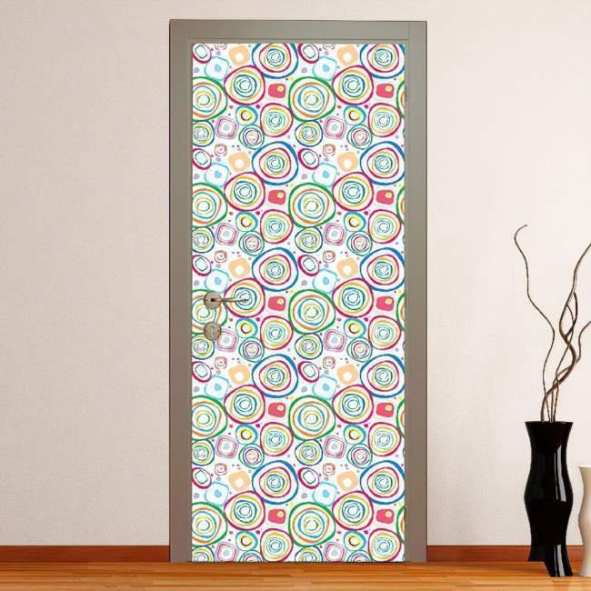 Ovals pal, αυτοκόλλητο πόρτας