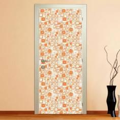 Orange rectangles, αυτοκόλλητο πόρτας
