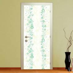 Green waves, αυτοκόλλητο πόρτας