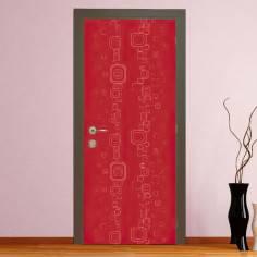 Redish rectangles, αυτοκόλλητο πόρτας