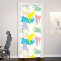 Brush strokes, αυτοκόλλητο πόρτας