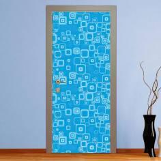 Blue rectangles, αυτοκόλλητο πόρτας