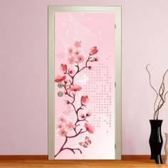 Blossomed spring, αυτοκόλλητο πόρτας