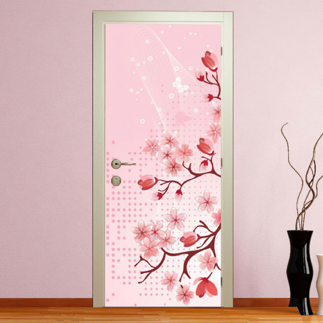 Blossomed spring 2, αυτοκόλλητο πόρτας