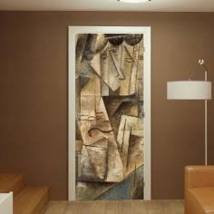 Abstract faces, αυτοκόλλητο πόρτας