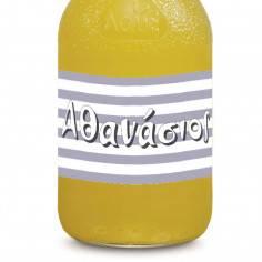 Ρίγες οριζόντιες, αυτοκόλλητες ετικέτες για μπουκάλια, με το όνομα που θέλετε
