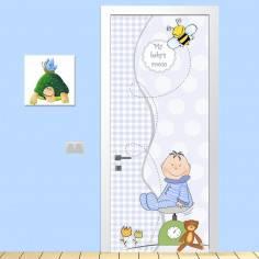 My boy's room, αυτοκόλλητο πόρτας παιδικό