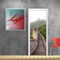 Σινικό τοίχος, αυτοκόλλητο πόρτας