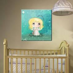 My baby angel, με όνομα, παιδικός - βρεφικός πίνακας σε καμβά
