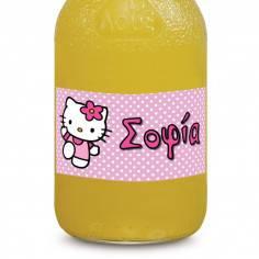 Hello Kitty,αυτοκόλλητες ετικέτες για μπουκάλια , με το όνομα που θέλετε