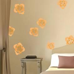 Αυτοκόλλητο τοίχου, Τριαντάφυλλα, αφηρημένη σχεδίαση