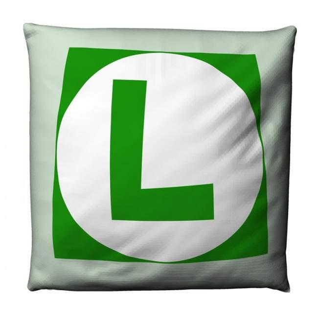 Super Mario 2 , Luigi L, βαμβακερό διακοσμητικό μαξιλάρι