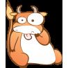 Αστεία Αγελάδα |Αυτοκόλλητο τοίχου