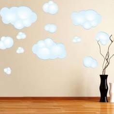 Αυτοκόλλητο τοίχου, Μεγάλα σύννεφα