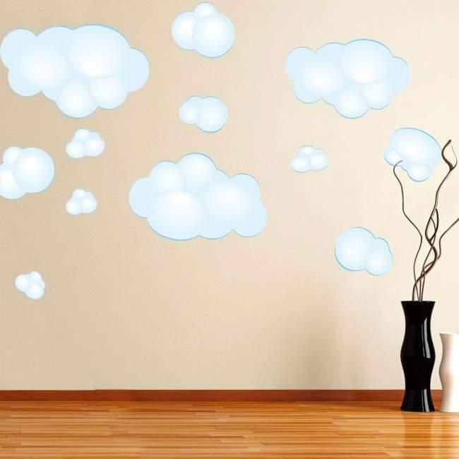 Μεγάλα σύννεφα , αυτοκόλλητα τοίχου.