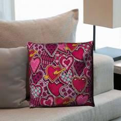 Love pattern, διακοσμητικό μαξιλάρι
