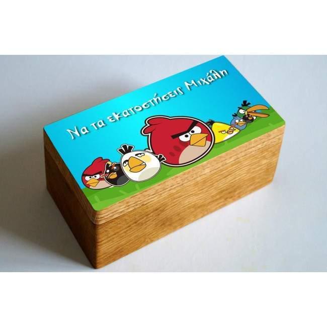 Angry birds,10άδα ,αυτοκόλλητες ετικέτες με το όνομα που θέλετε,για κουτιά,μπομπονιέρες κτο
