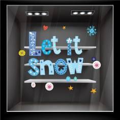 Let it snow ,αυτοκόλλητα βιτρίνας ,τοίχου