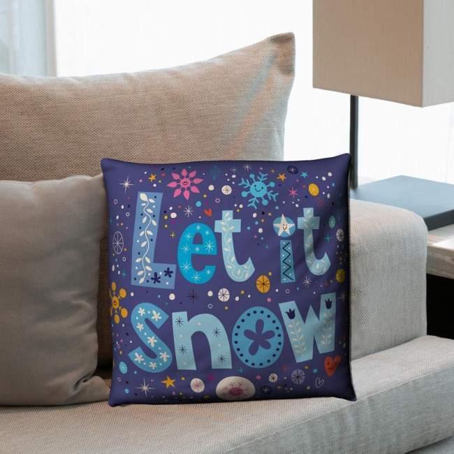 Let it snow, διακοσμητικό μαξιλάρι